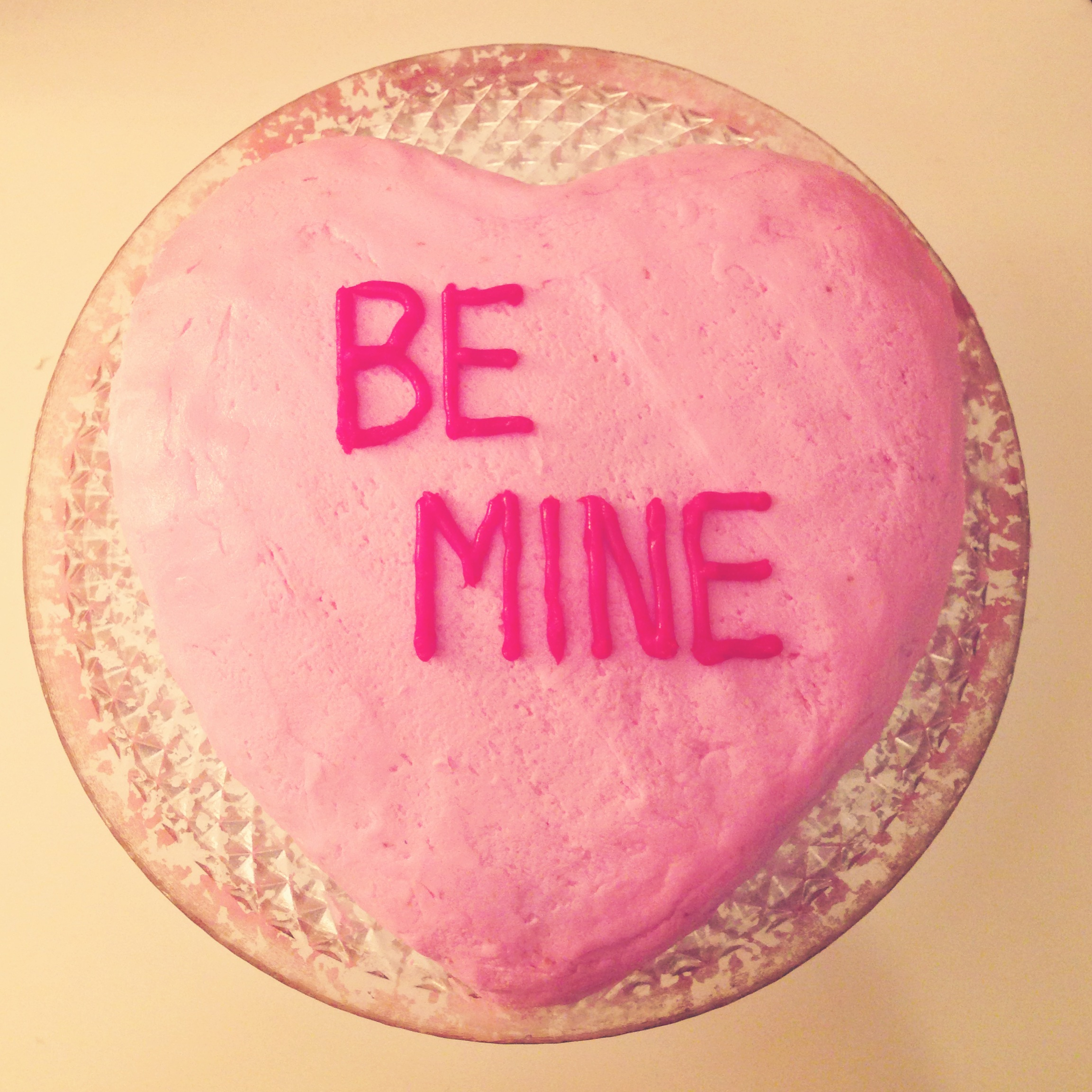 Valentine's Day Conversation Cake