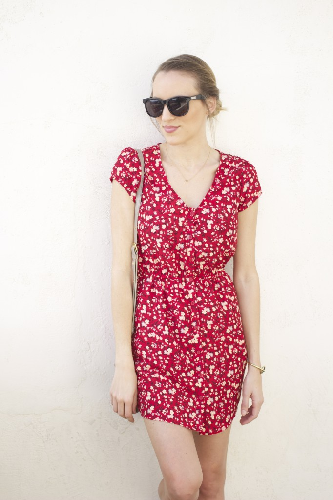 Red Floral Dress 5