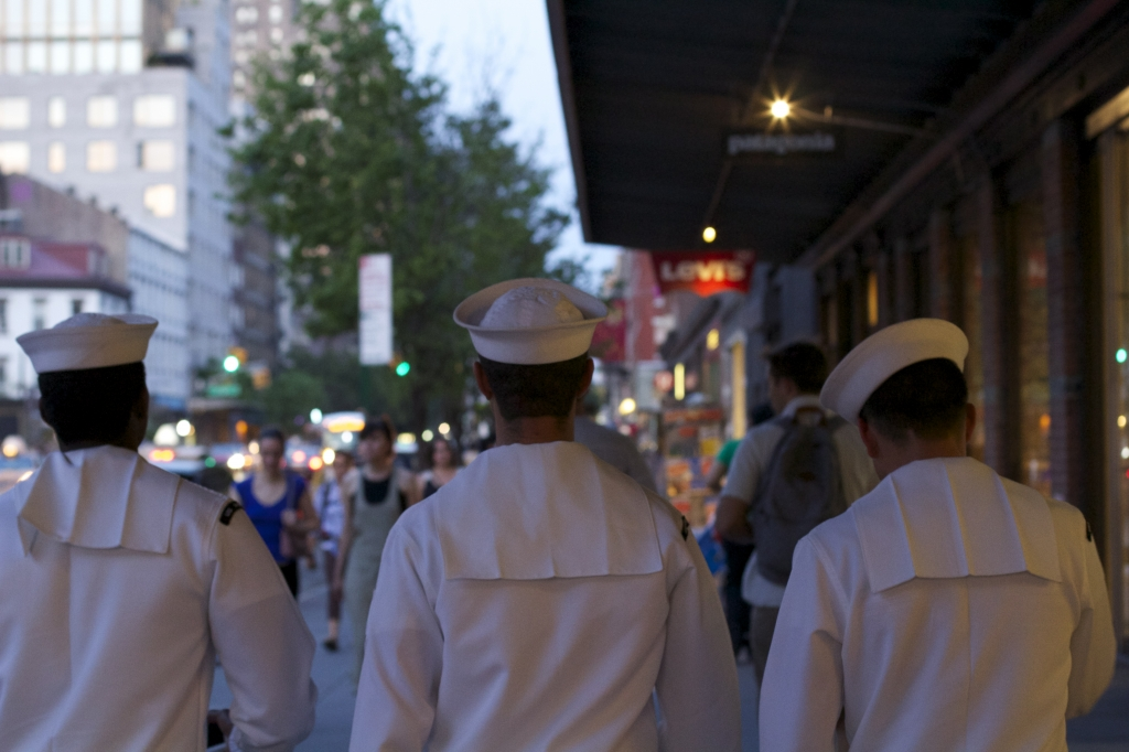 Sailors during Fleet Week in New York