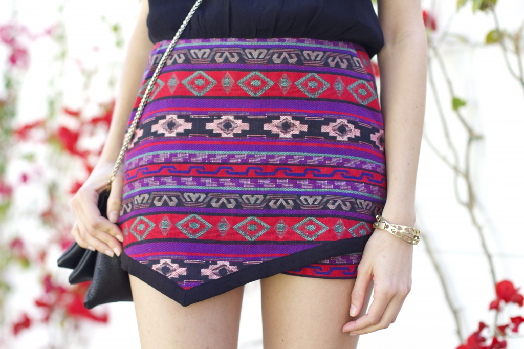 Line and Dot Textiled Asymmetry Romper