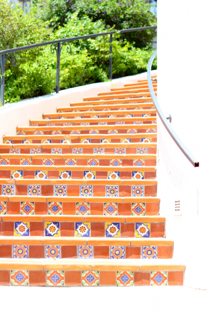 Spanish style steps at the Ojai Valley Inn and Spa