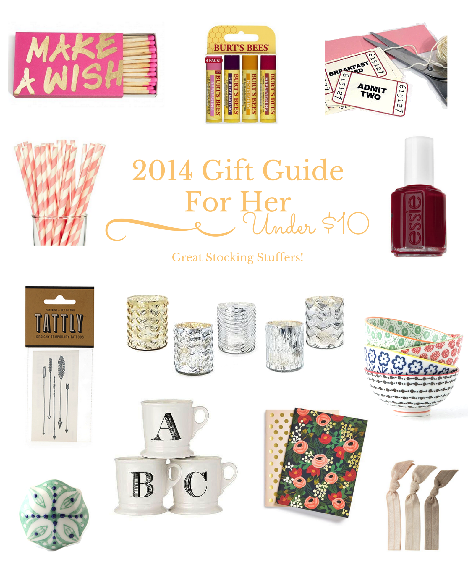 2014 Holiday Gift Guide For Her - $10 And Under