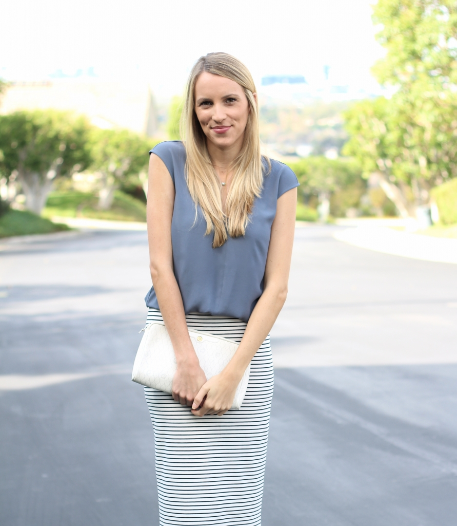 Striped Pencil Skirt I Adorned With Love