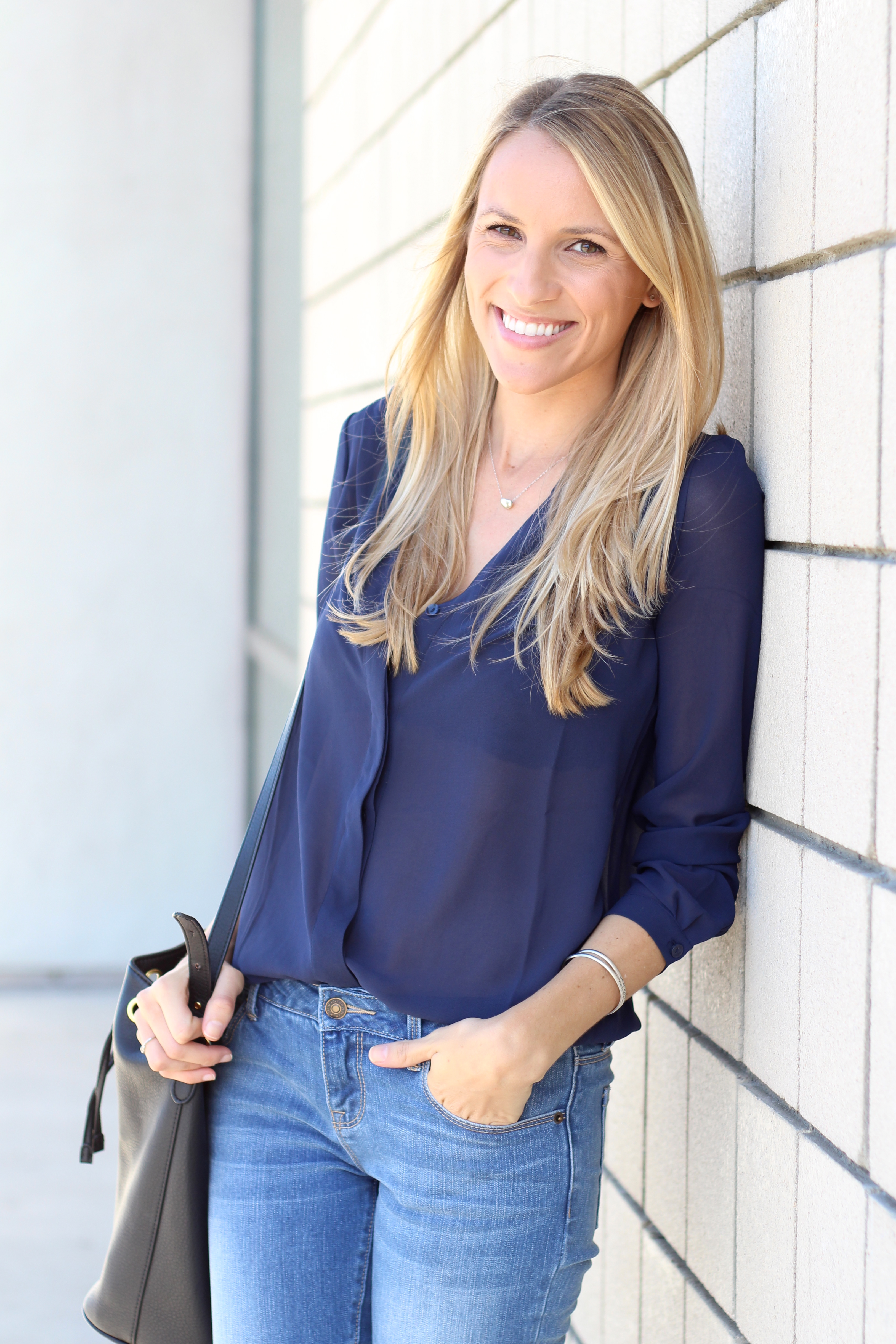 Classic Button-Down Blouse I Adorned With Love