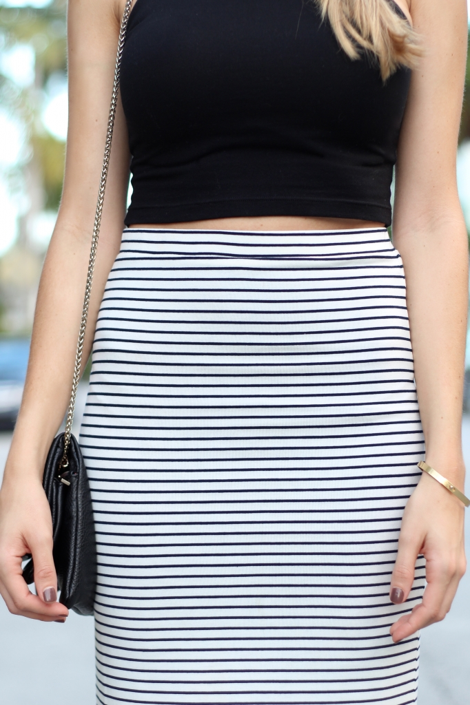 Crop Top With A Pencil Skirt I Adorned With Love