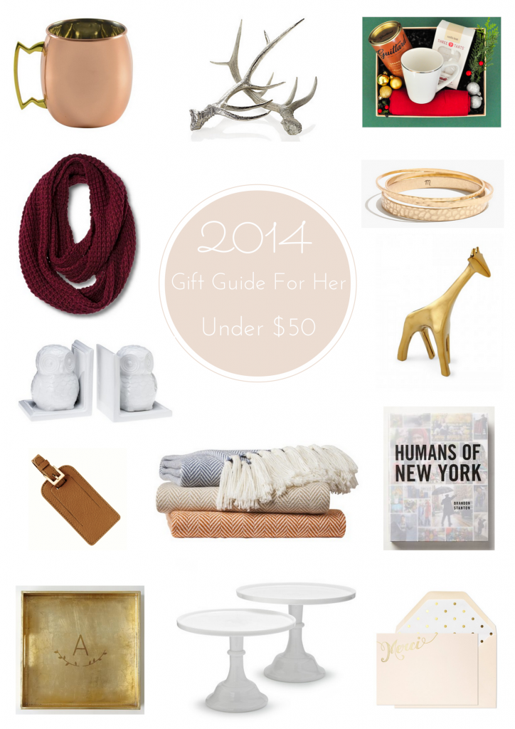 2014 Holiday Gift Guide For Her - Under $50