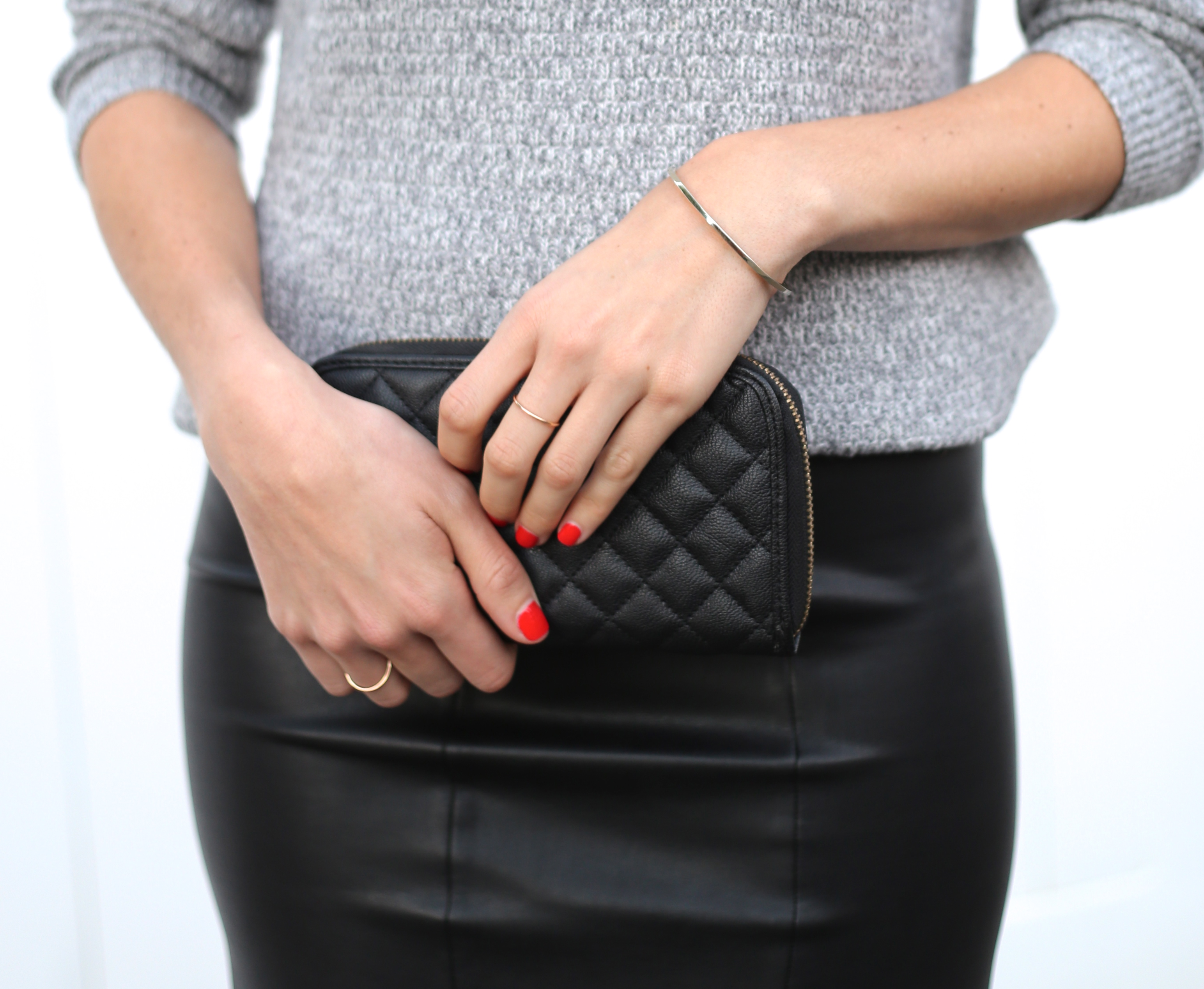Faux Leather Pencil Skirt I Adorned With Love