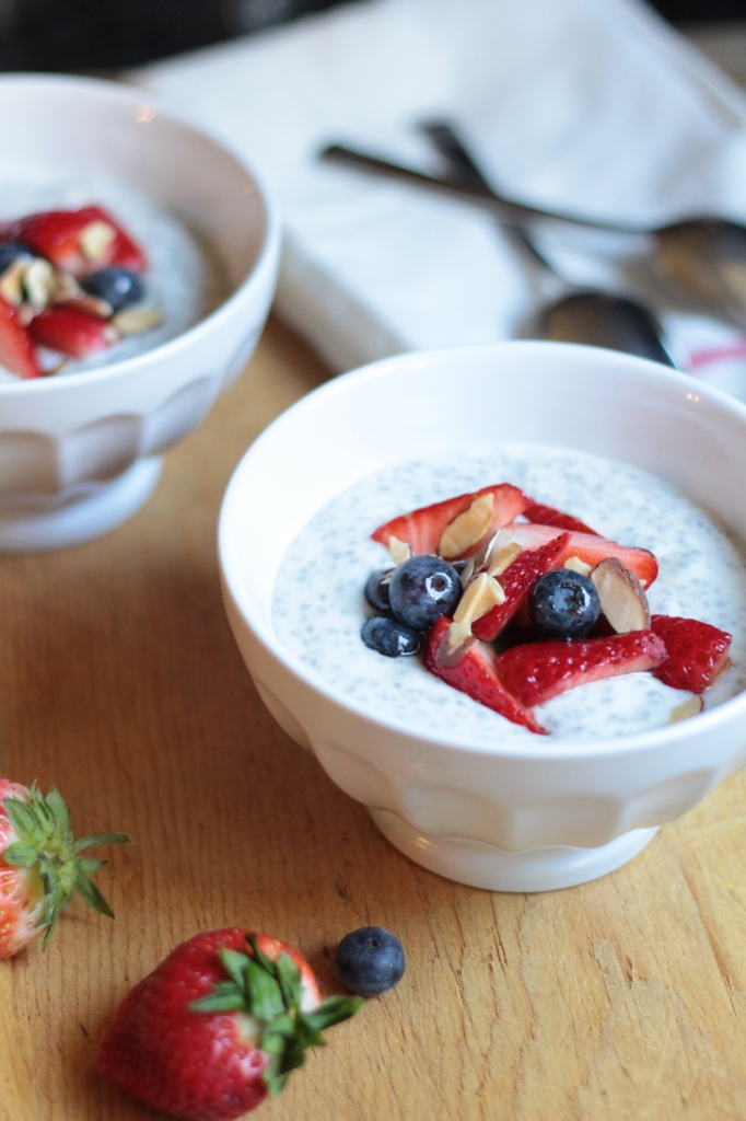 Vanilla Chia Seed Pudding - a healthy breakfast recipe.