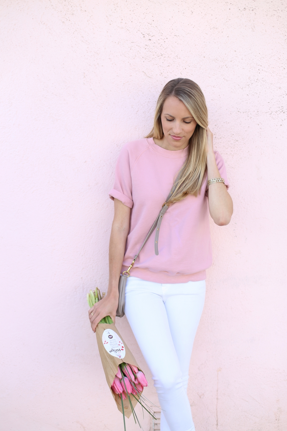 Cara Short Sleeve Sweatshirt by Shop Sincerely Jules - Adorned With Love