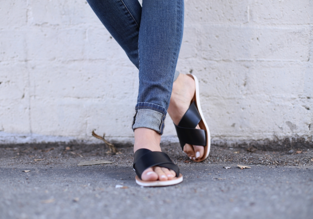 Black criss cross sandals I Adorned With Love