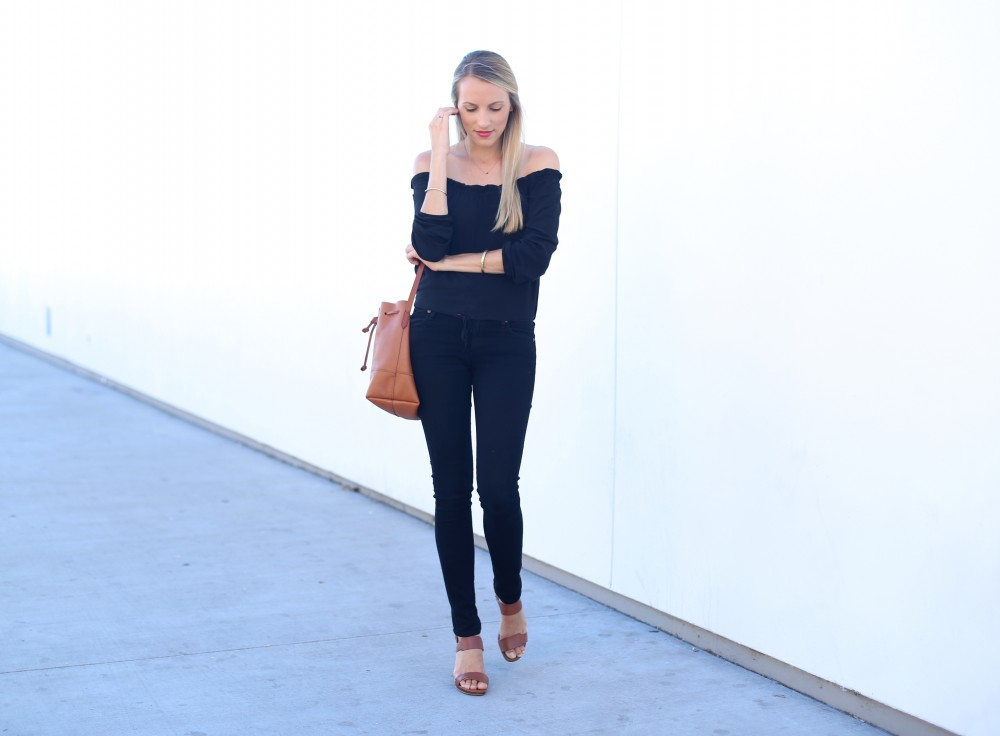 Black off the shoulder top I Adorned With Love