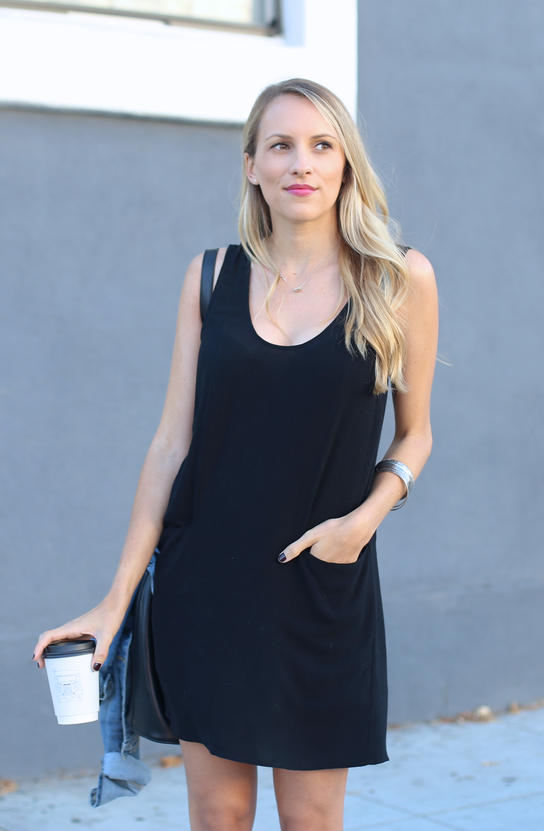 Black sleeveless shift dress by Bella Luxx I Adorned With Love