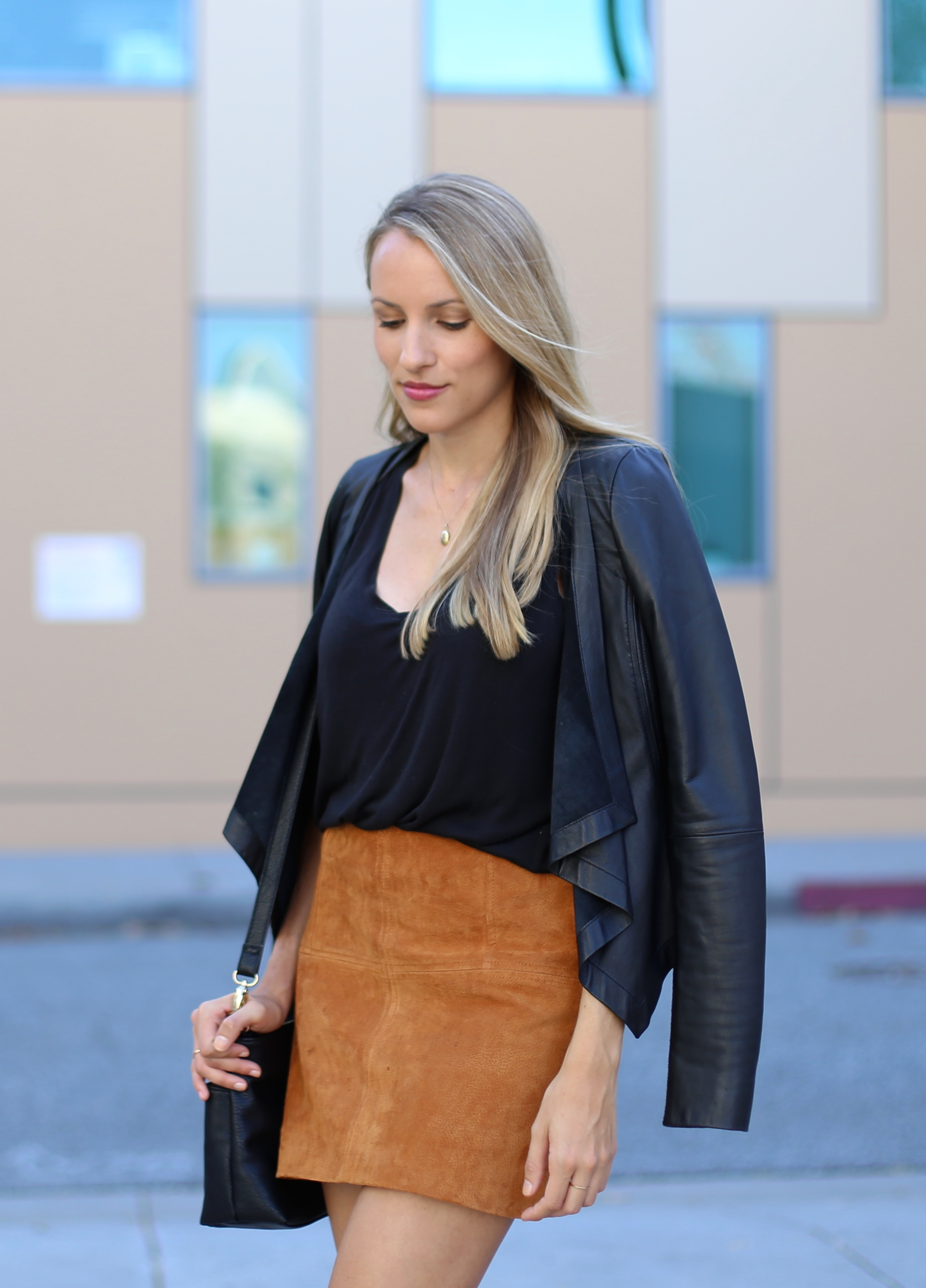 Suede skirt for fall - Adorned With Love