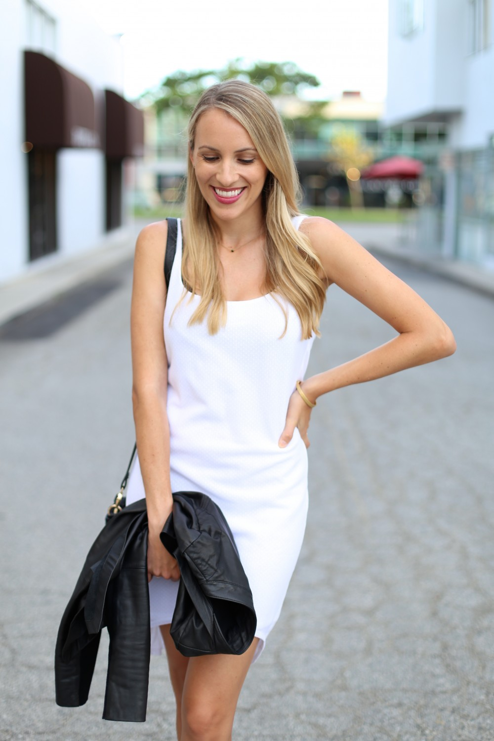 Transition your white summer dress to fall - Adorned With Love