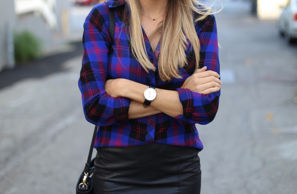 Plaid and leather - Adorned With Love