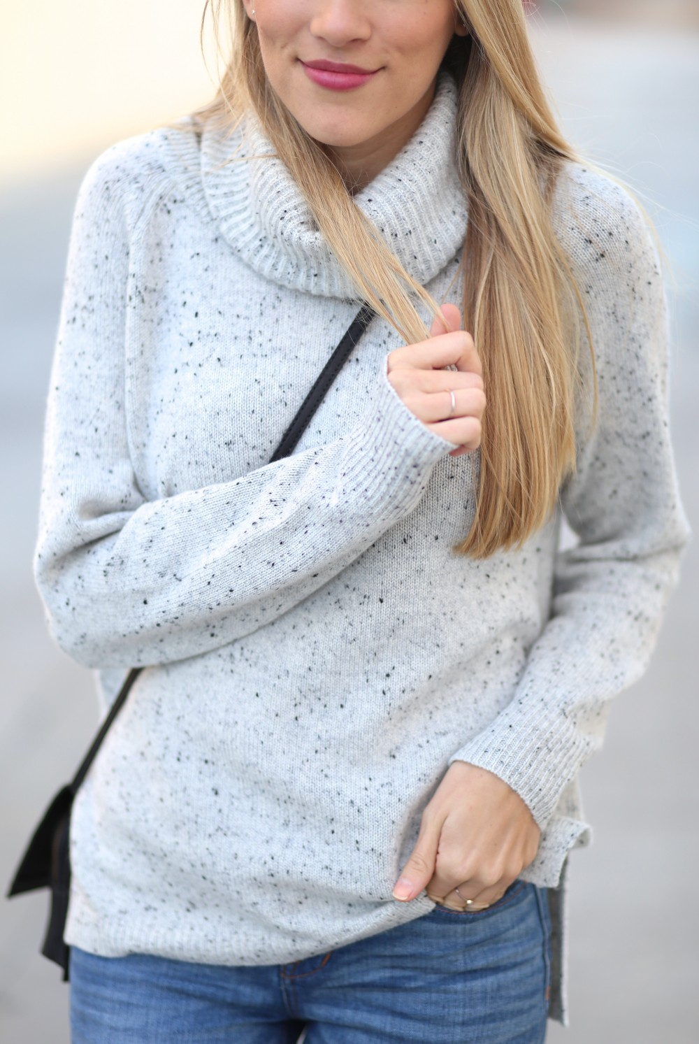 Cashmere Convertible Turtleneck Sweater by Madewell| Adorned With Love