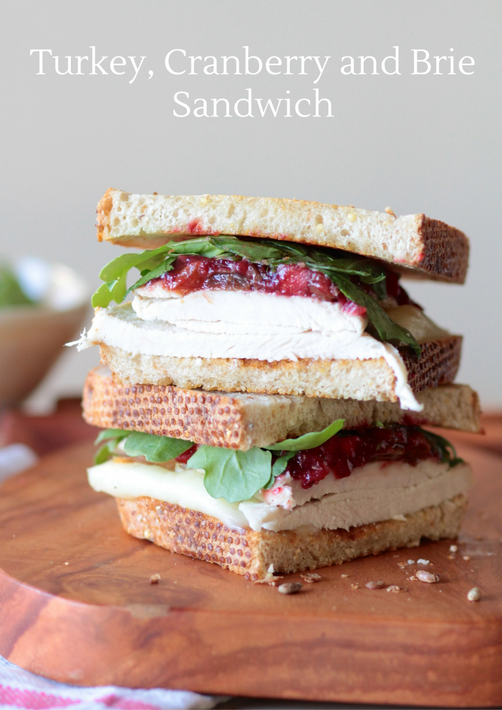 Thanksgiving Leftovers: Turkey, Cranberry & Brie Sandwich