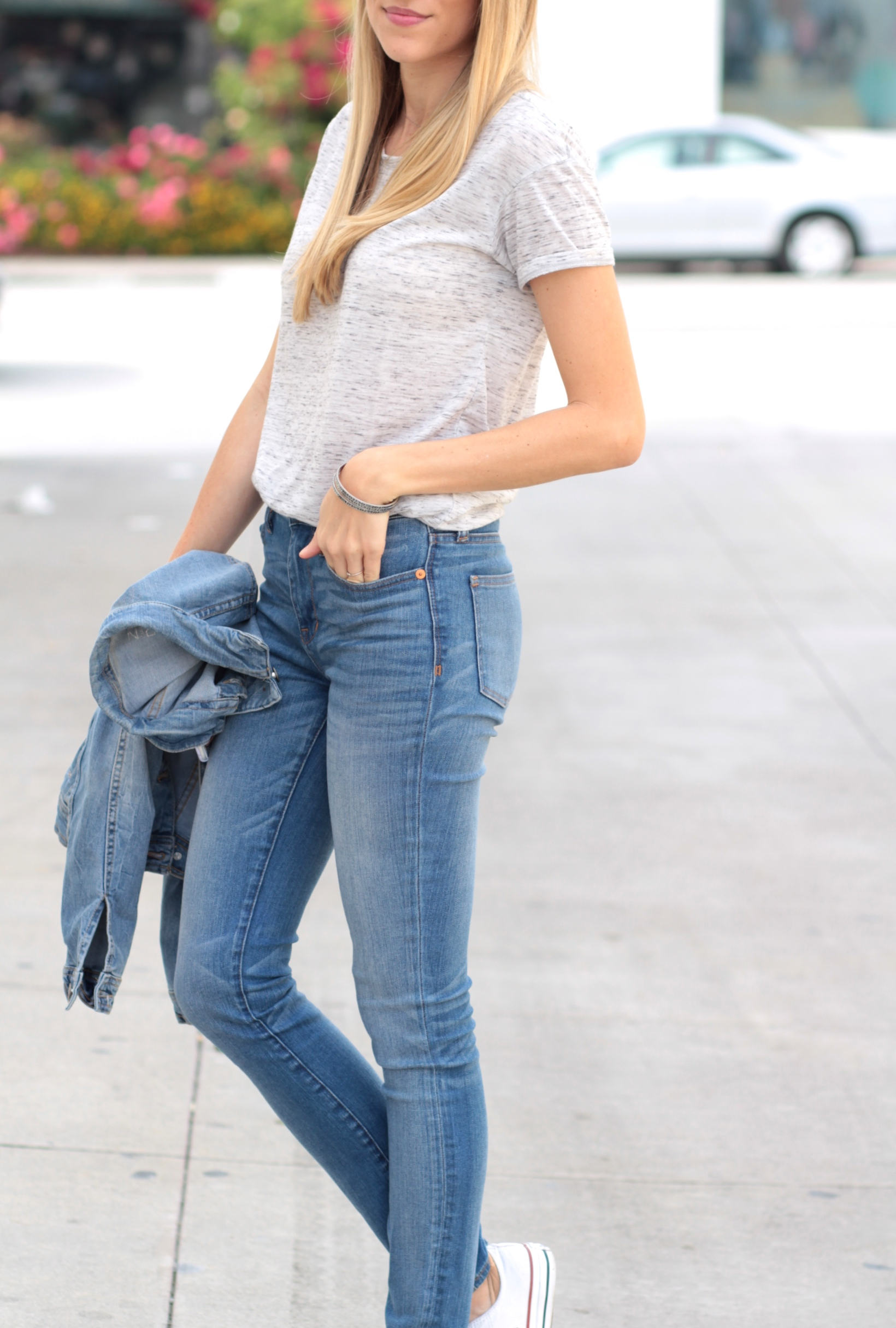 Bella Luxx tee + high waisted Madewell jeans | Adorned With Love