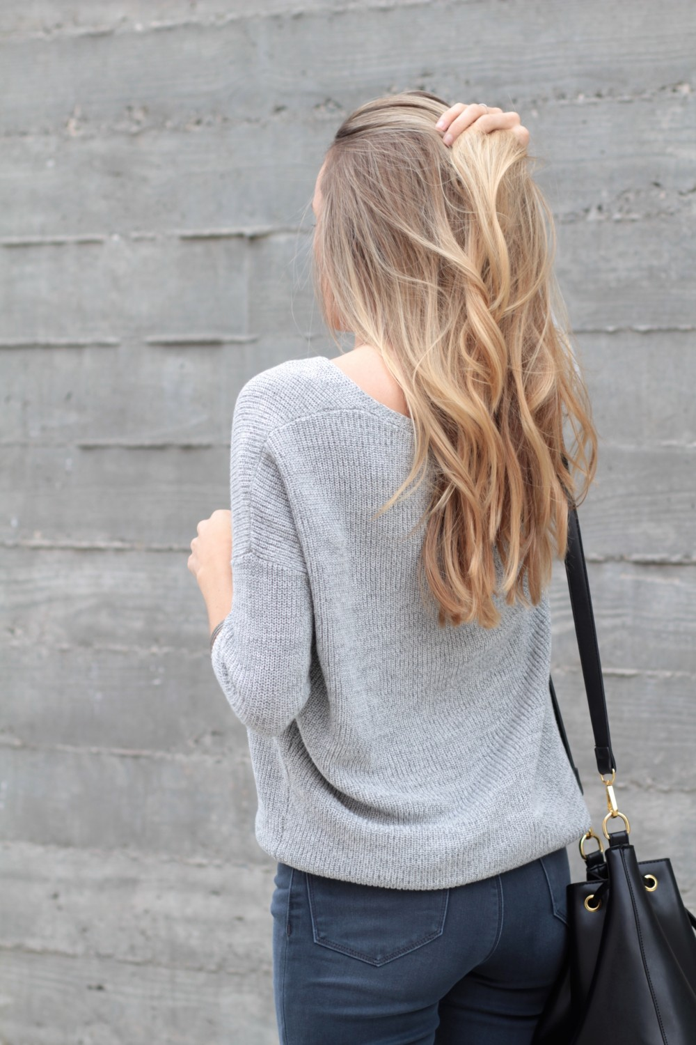 Grey on grey outfit   Adorned With Love