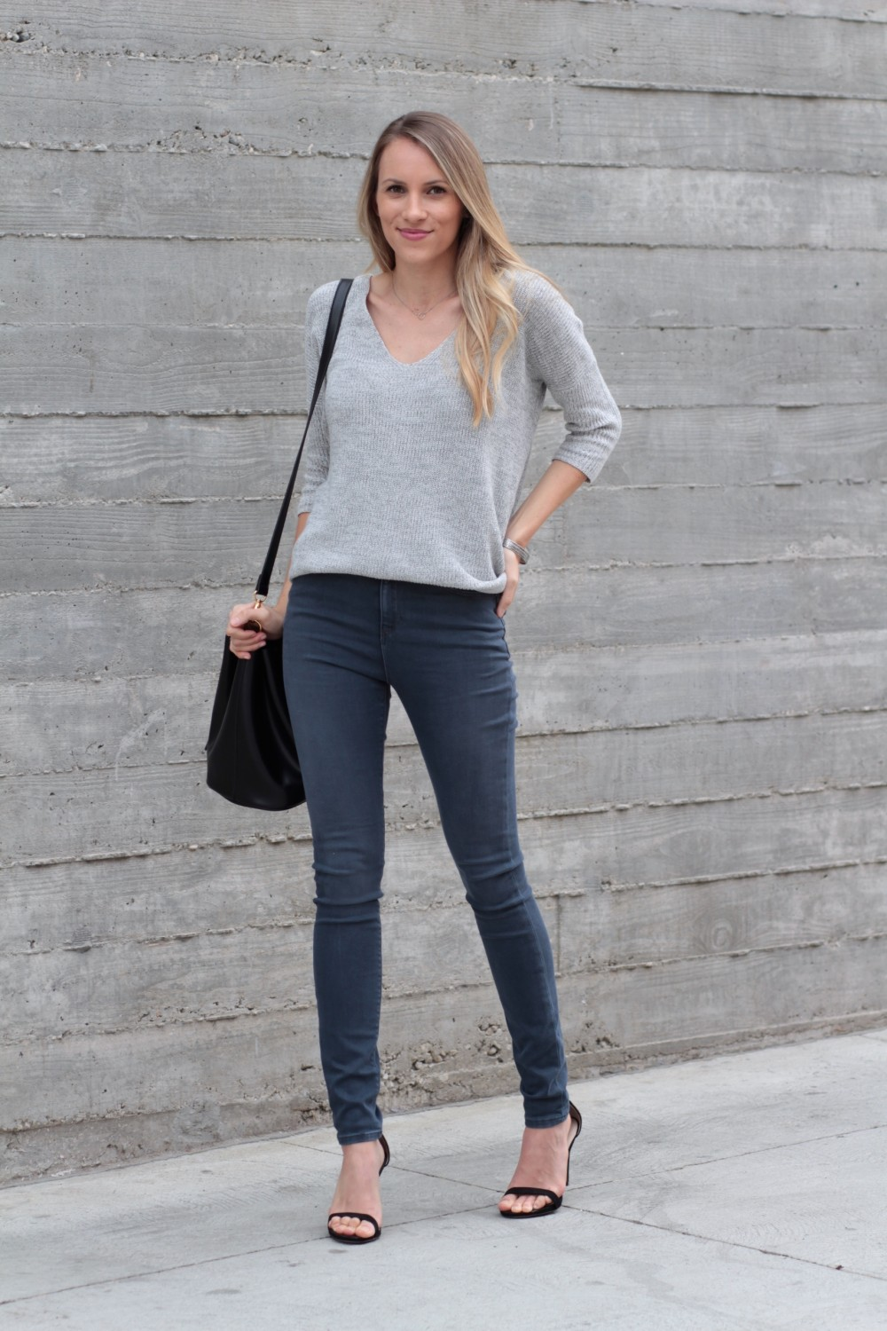 Grey on grey outfit | Adorned With Love