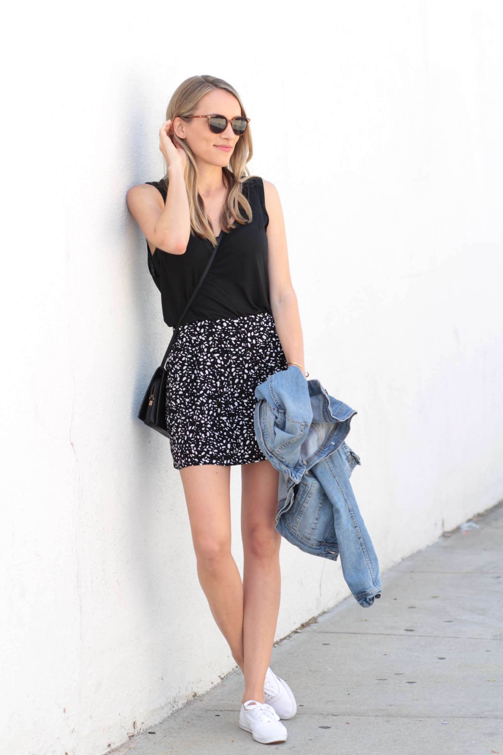 Relaxed muscle tank + a flowy skirt for spring   Adorned With Love