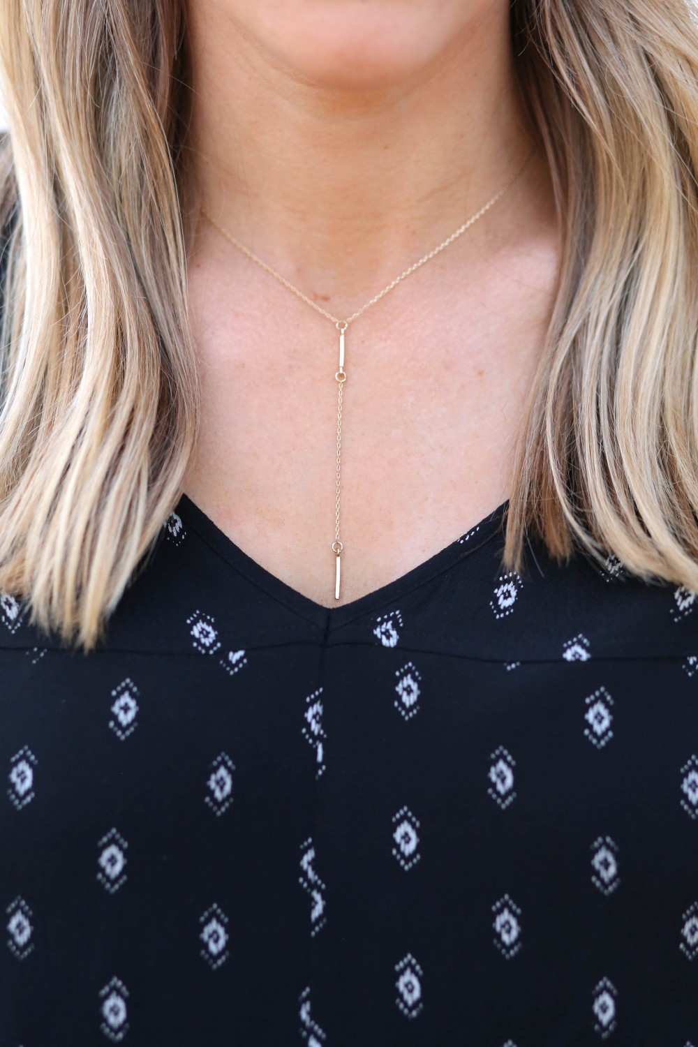 Dainty gold drop necklace | Adorned With Love
