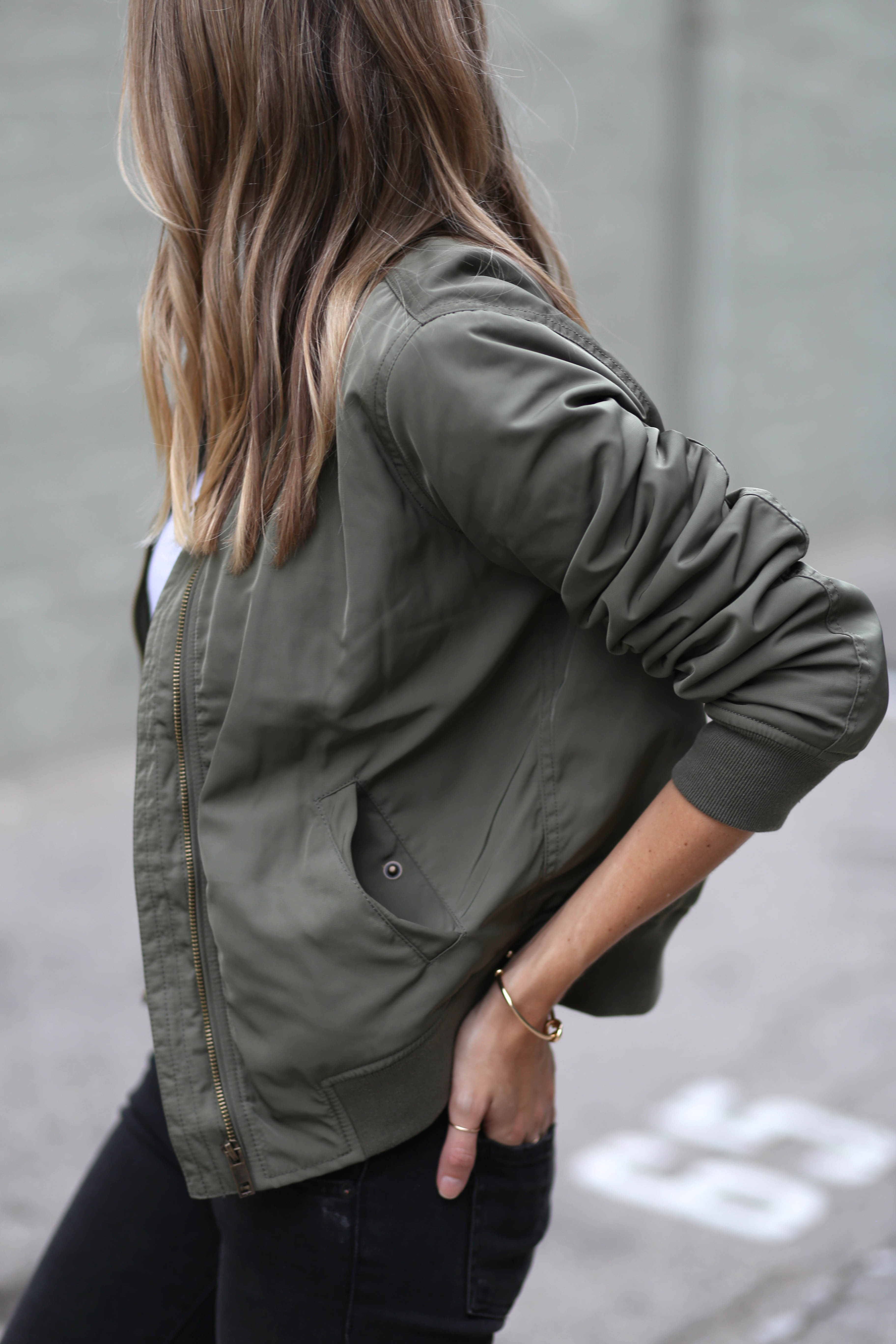 Green Bomber Jacket | Adorned With Love