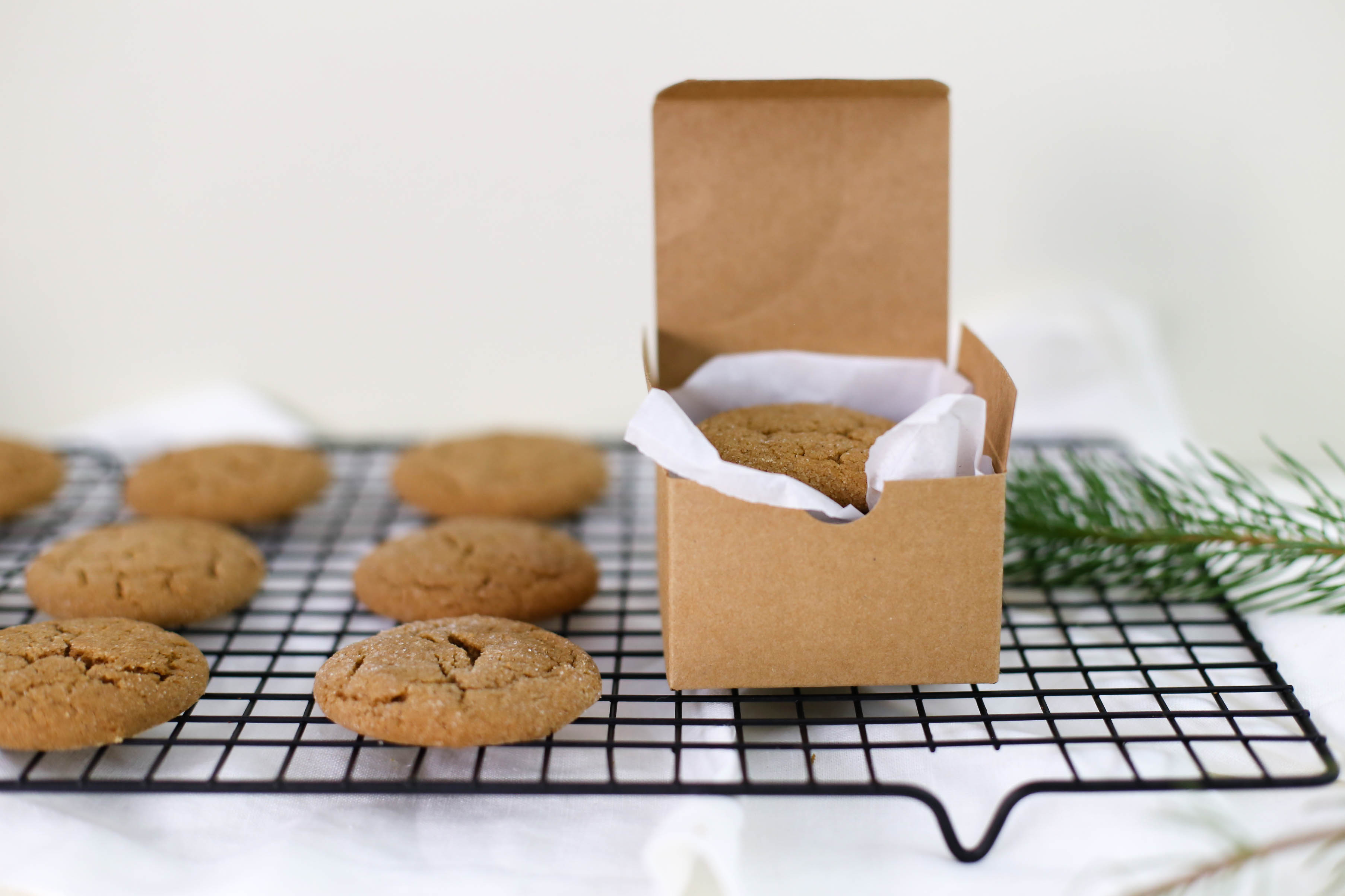 Soft baked gingersnap cookies - the perfect homemade gift for the holidays   Adorned With Love