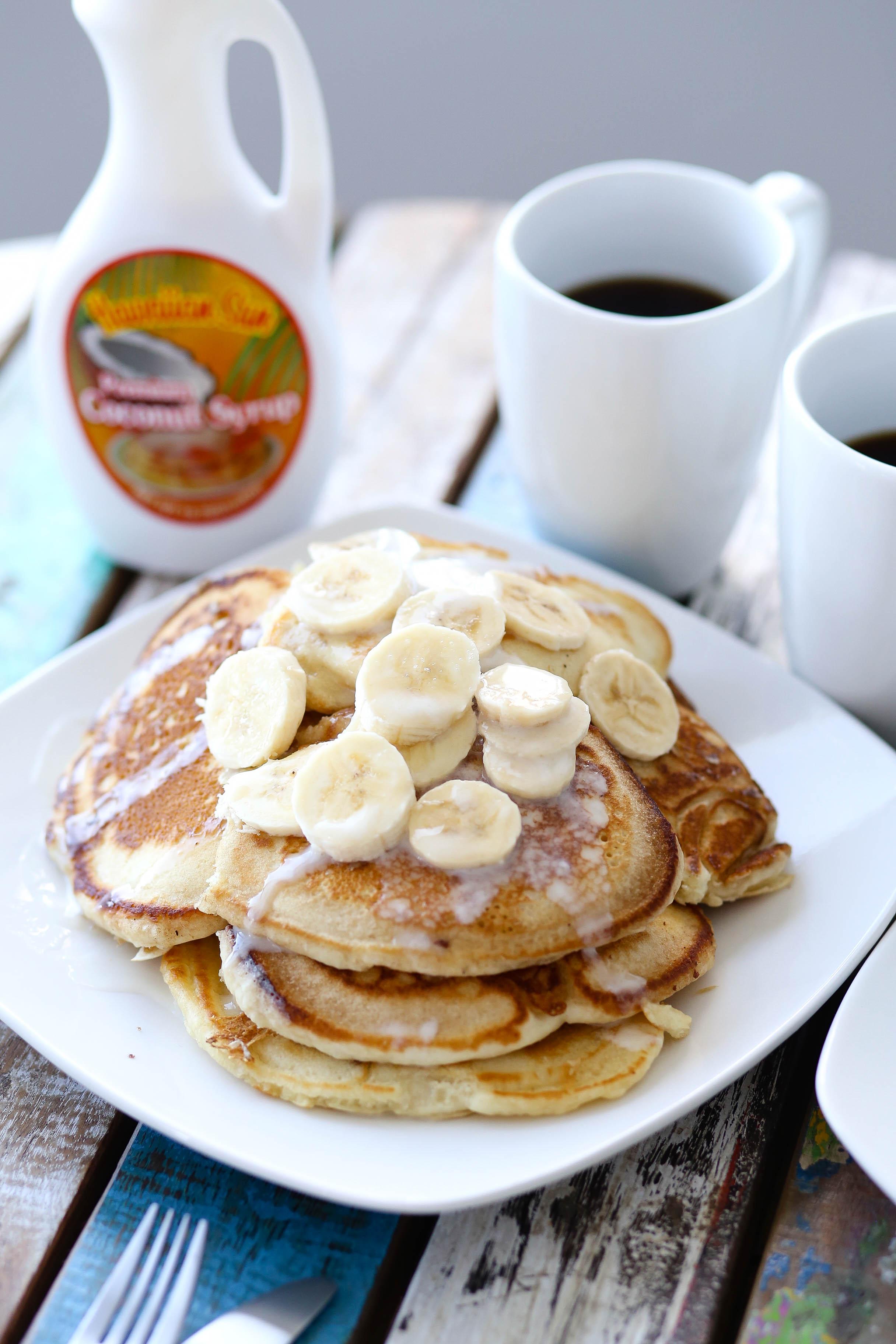 Banana Pancakes Drenched In Coconut Syrup | adorned with love